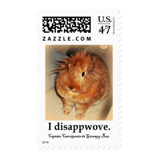 Disapproving Bunny Rabbit Postage Stamps