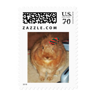 Disapproving Bunny Rabbit Postage Stamps Christmas