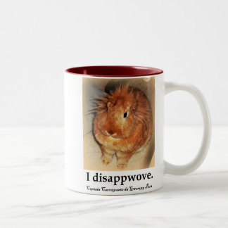 Disapproving Bunny Rabbit Santa Morphing Mug