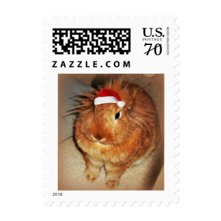 Disapproving Bunny Rabbit Santa Postage Stamps