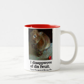 Disapproving Bunny Rabbit Two Tone Mug