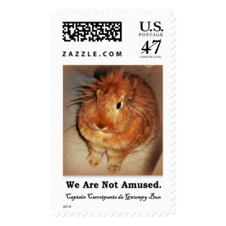 Disapproving Bunny Rabbit We Are Not Amused Stamps