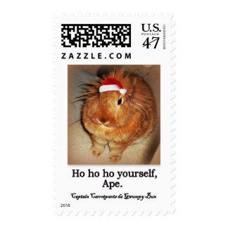 Disapproving Grumpy Bunny Rabbit Postage Stamps