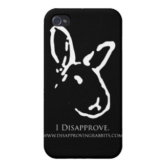 Disapproving Rabbits Black iPhone Case