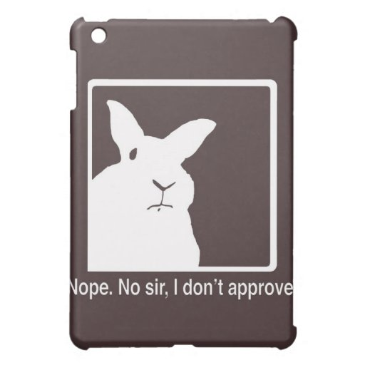 Disapproving Rabbits Brown iPad case