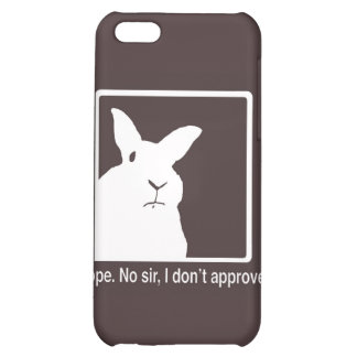 Disapproving Rabbits Brown Logo iPhone 4 Case