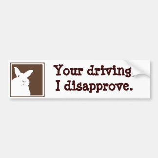 Disapproving Rabbits Bumper Sticker 1 Car Bumper Sticker