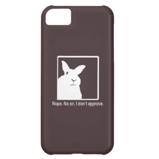 Disapproving Rabbits iPhone 5 Case Brown