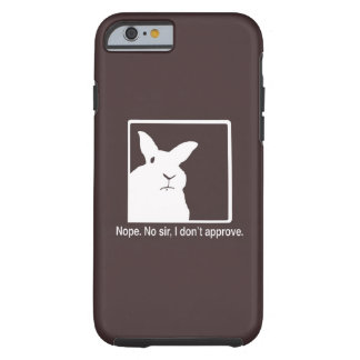 Disapproving Rabbits iPhone 6 case Brown