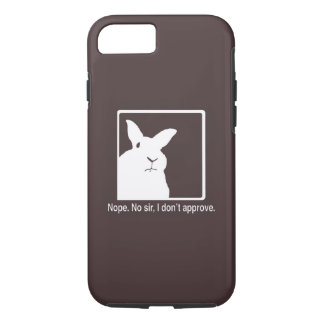 Disapproving Rabbits iPhone 7 case Brown