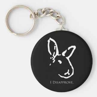 Disapproving Rabbits Keychain