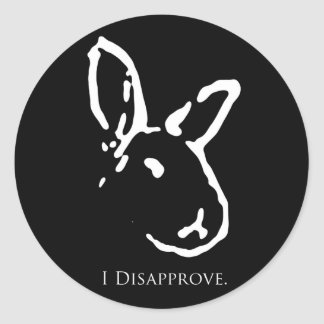 Disapproving Rabbits Sticker