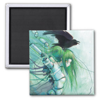 Disassembled Tears 2 Inch Square Magnet