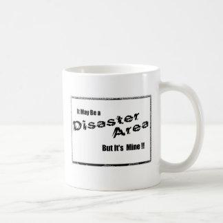 Disaster area coffee mug