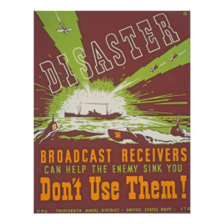 Disaster Broadcast Vintage Poster - Don't Use Them
