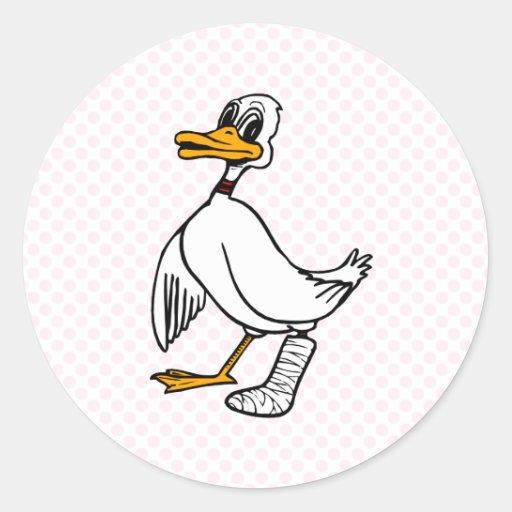 Disaster Duck Round Sticker