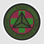 Disaster Response Force (Woodland Camo) Sticker