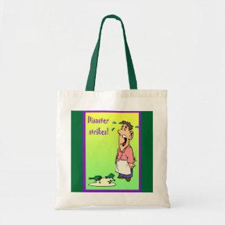 Disaster strikes tote bag