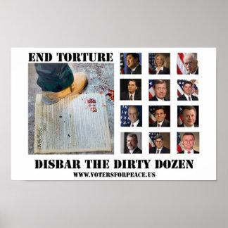 Disbar The Dirty Dozen Poster $20.00