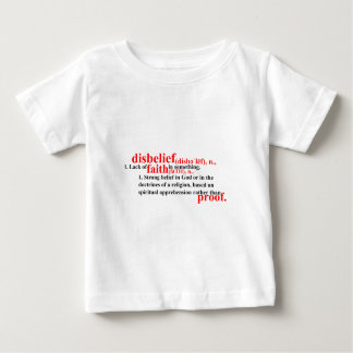 Disbelief Definition Baby T-Shirt