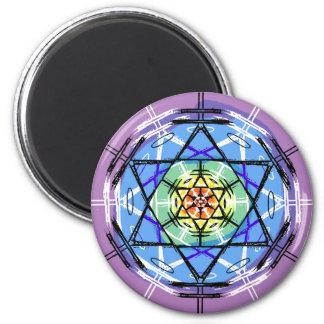 Disc Basket Circle Art 2 Inch Round Magnet