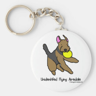 Disc Dog Airedale Terrier Keychain
