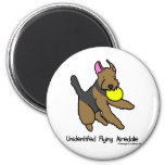 Disc Dog Airedale Terrier Refrigerator Magnets