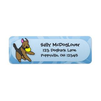 Disc Dog Airedale Terrier Return Address Label