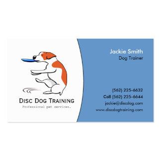 Disc Dog Trainer Pet Business Custom Logo Art Business Card