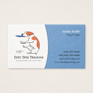 Disc Dog Trainer Pet Business Custom Logo Art Business Card