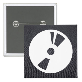 Disc Dvds Minimal 2 Inch Square Button