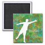 Disc Golf 2 Inch Square Magnet