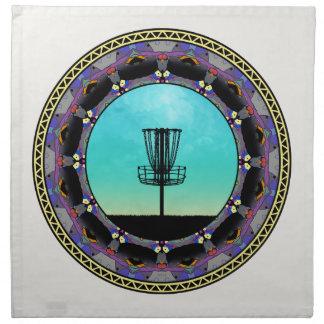 Disc Golf Abstract Basket 3 Napkin