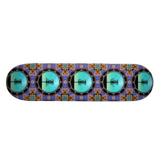 Disc Golf Abstract Basket 3 Skateboard Deck