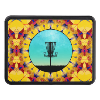 Disc Golf Abstract Basket 4 Hitch Cover