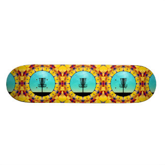 Disc Golf Abstract Basket 4 Skateboard Deck