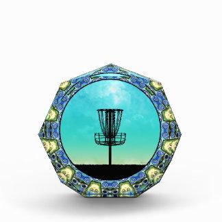 Disc Golf Abstract Basket 5 Acrylic Award