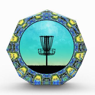 Disc Golf Abstract Basket 5 Award