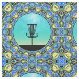 Disc Golf Abstract Basket 5 Fabric