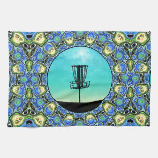 Disc Golf Abstract Basket 5 Towel
