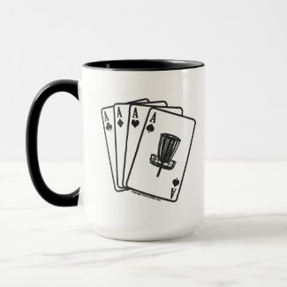Disc Golf Aces Mug - Black & White