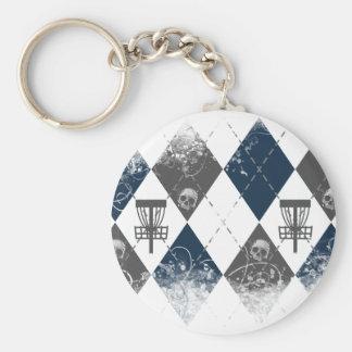 Disc Golf Argyle Design Keychain