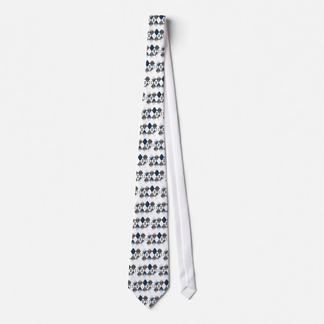 Disc Golf Argyle Design Tie