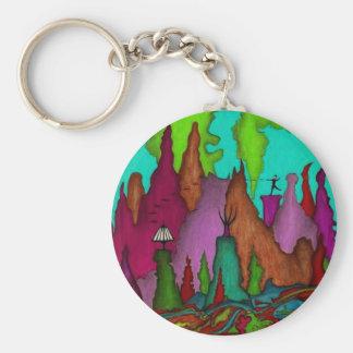Disc Golf Art Bag Tag-Key Chain Keychain