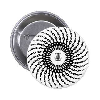 Disc Golf Basket Chains Pinback Button