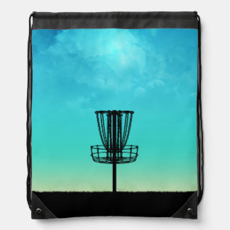 Disc Golf Basket Drawstring Backpack