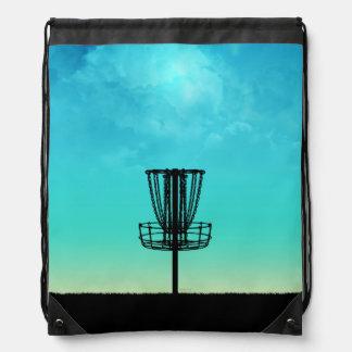 Disc Golf Basket Drawstring Backpacks