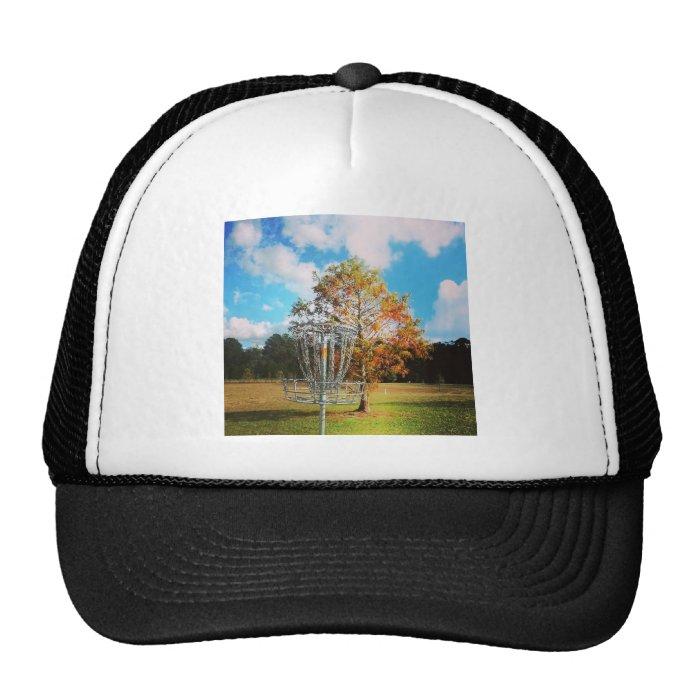 "Disc Golf Basket ""Fall in Florida Trucker Hat"