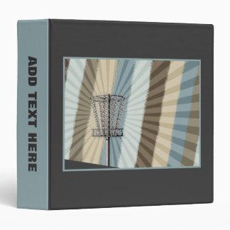 Disc Golf Basket Graphic Binder