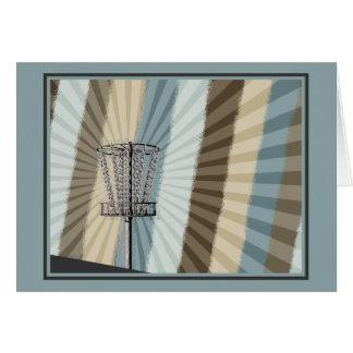 Disc Golf Basket Graphic Card